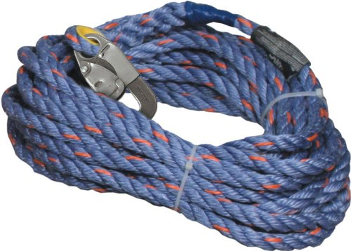 Miller Titan by Honeywell 300L-Z7/125FTBL 125-Feet Polyester/Polypropylene Blend Rope with Locking Snap Hook and Loop