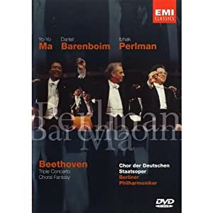 Beethoven - Choral Fantasy and Triple Concerto for Violin, Cello & Piano / Barenboim, Ma, Perlman