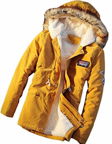 Sweatshirt Pullover Wonen's Sleeves Yellow Long Top Crop Drawstring Hot Brd Hoodie UK qwv44R