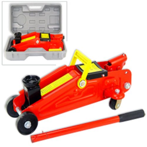 2 Ton Mini Floor Jack in a Blow Mold Case for Storage by Brand-new