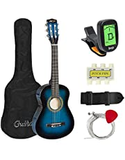 Best Choice Products 30in Kids Classical Acoustic Guitar Beginners Set w/Carry Bag, Picks, E-Tuner, Strap - Blue
