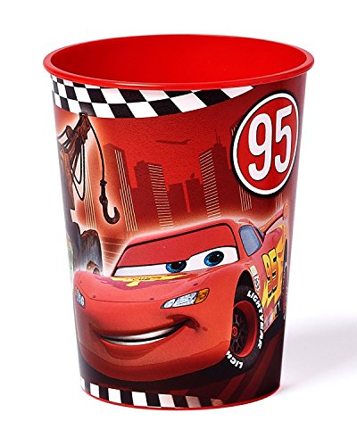 By Broward Ballons Disney Cars, 16 Oz Plastic Cup Party (Cars Plastic Cups)
