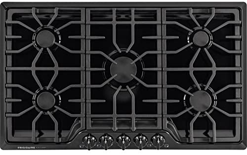 Frigidaire Gallery 36 Gas Cooktop in Black Frigidaire FGGC3645QB