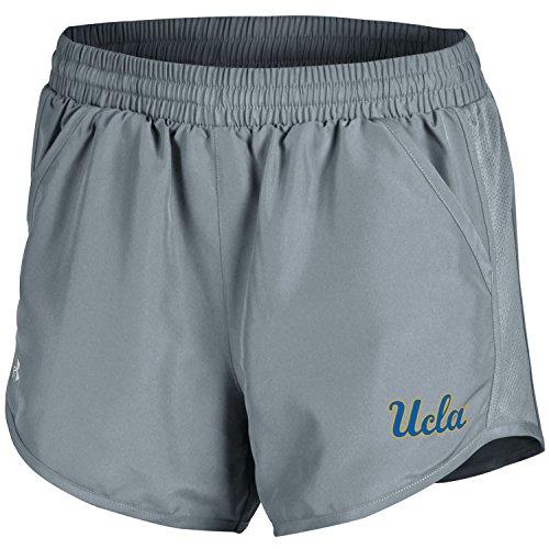 Under Armour NCAA UCLA Bruins Women's Run Short, Medium, True Grey Heather -