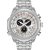 [Sponsored]Men's Eco-Drive Chronograph Watch with Perpetual Calendar and Date, BL5400-52A