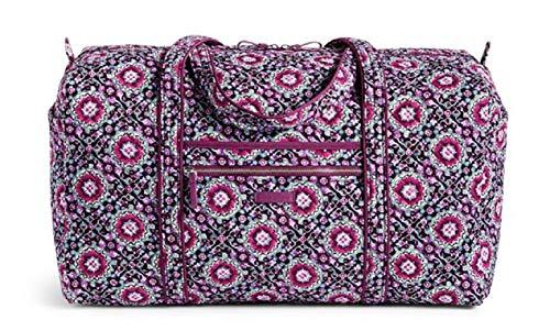 xl duffel travel bag lilac medallion