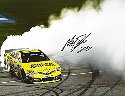 AUTOGRAPHED 2013 Matt Kenseth #20 Dollar General Racing KENTUCKY WINNER (Quaker State 400) BURNOUT Signed 9X11 NASCAR Glossy Photo with COA