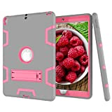 Beimu Case For iPad Pro 10.5' Case 2017, Full-body Heavy Duty Armor Defender Shock-Absorption Impact Resistant PC+Silicone Case with Built-in Kickstand for Apple iPad Pro 10.5 Inch 2017 Model