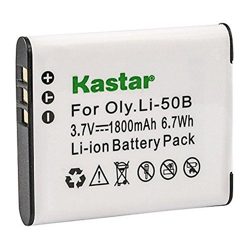 Kastar Battery for Olympus LI-50B SZ-10 SZ-12 SZ-15 SZ-16 Sz-20 SZ-30MR SZ31MR TG-610 TG-630 TG-810 TG-820 TG-830 XZ-1 XZ-16 SP-810UZ and Panasonic VW-VBX090 HX-WA03 HX-WA2 HX-WA20 HX-WA3 HX-WA301