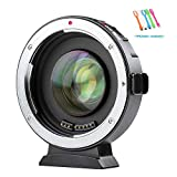 VILTROX EF-M2 Auto Focus Lens Mount Adapter Converter 0.71X Compatible for Canon EOS EF EF-S Lens to Micro Four Thirds (MTF, M4/3)Cameras