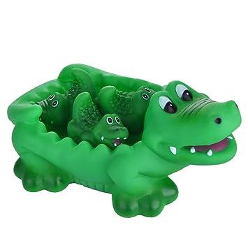 Amazon Com Bath Toys Alligator Set Family Bath Toy