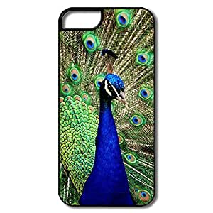IPhone 5/5S Cover, Peacock White/black Case For IPhone 5/5S