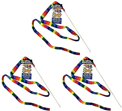 Cat Dancer Products Rainbow Cat Charmer. 3 Count
