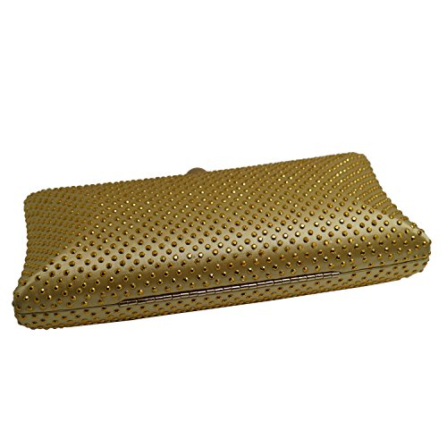 DOREE Womens Evening Clutch with Rhinestone and Crystal Evening Bag Gold by DOREE (Image #2)