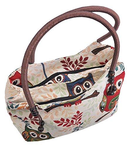 Eule Eulen Tasche Handtasche Henkeltasche ***MIT EULENMOTIV UND VERSPIELTEN ACCESSOIRES*** Shopper Schultertasche Eulenmotiv Umhängetasche - VINTAGE LOOK - absolut cool und stylish