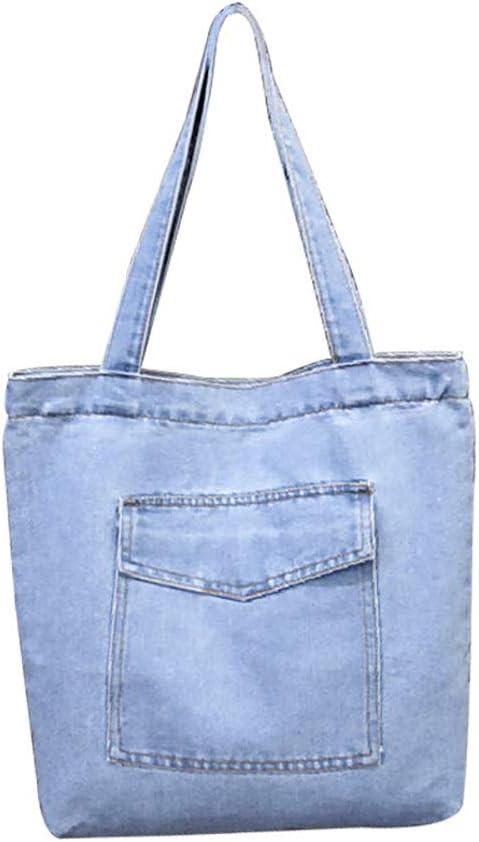 Mfeo Womens Soft Jeans Cloth Bags Casual Handbag Tote Bag Simple Bags