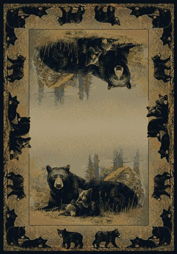 United Weavers Hautman Area Rug 132-47417 Time To Play Natural Border Bears 3′ 11″ x 5′ 3″ Rectangle Review
