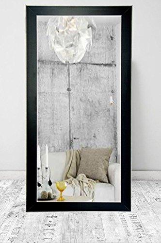 BrandtWorks BM11floor Accent  Floor Mirror, 71 x 32'', Black/Silver by BrandtWorks