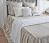 Are There Different Size King Beds French Linen Bedspread King Natural Linen Ruffles Bedspreads Queen Size