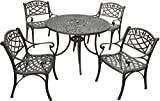Cheap Crosley Furniture Sedona 5-Piece Solid-Cast Aluminum Outdoor Dining Set with 42-inch Table and 4 Arm Chairs – Black