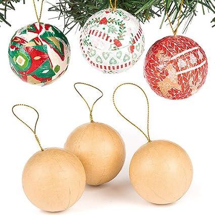 Como Decorar Bolas De Navidad De Poliespan.Baker Ross Kits De Bolsas De Navidad De Cartulina Dura Para