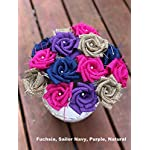 Burlap-Flowers-with-Stem-4-purple-4-white-4-natural-12-total-Burlap-Rose-Flowers-with-Stem-Wedding-Decor-Flowers-Rustic-Bouquet-with-Wooden-Stems