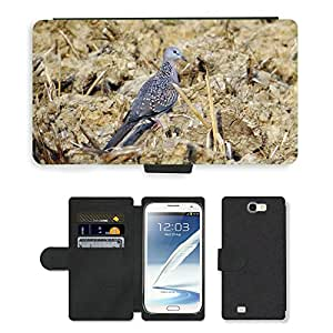 PU LEATHER case coque housse smartphone Flip bag Cover protection // M00108054 Spotted Dove Streptopelia chinensis // Samsung Galaxy Note 2 II N7100