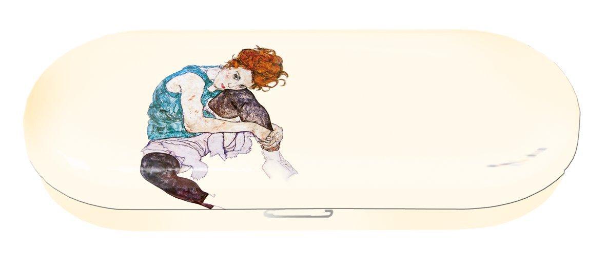 16x6,6x2,8 cm Edith en m/étal Multicolore Fridolin 18746 /Étui /à Lunettes Egon Schiele