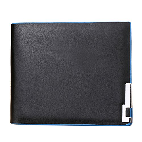 JD Million shop Famous Brand Business Genuine Leather Men Wallet Small Ultra Thin Card Holder Men Black Wallet ID Credit Card Holder Hasp wallet