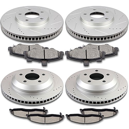SCITOO Compatible fit for Brake Kits, 4pcs Drilled -