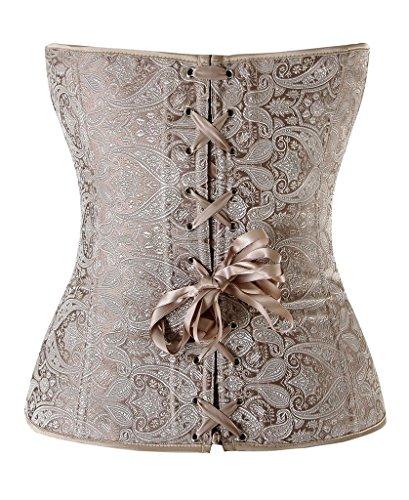 くそーつらい動揺させるHioffer(ハイオフア)結婚式 欧米人気 コルセット ヴィンテージ風 女性用 優雅 ウエストニッパー ファッション レディース