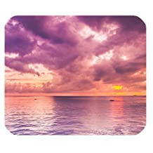 Ocean Sunset Nature Clouds Custom Rectangle Non-Slip Rubber Mousepad