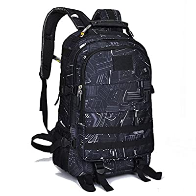 Military Tactical Backpack for Men Outdoor Bow Hunting Backpack Travel Laptop Bag Assault Pack Army Molle Bug Out Rucksack, USB Charging Port, Motorcycle, School, Survival, Hiking, Camping for Boys
