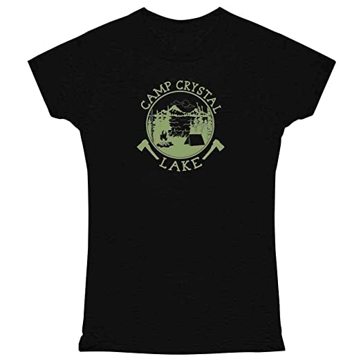7f2202ea566 Pop Threads Camp Crystal Lake Counselor Shirt Costume Staff Black S Womens  Tee Shirt