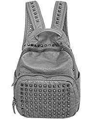 YOUR GALLERY Womens Studded Faux Leather Rucksak Backpacks