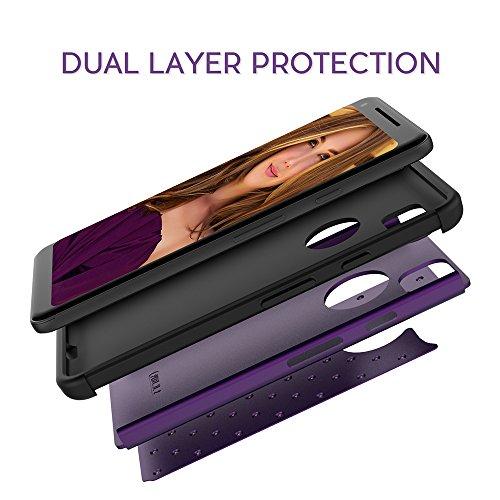 Google Pixel 2 XL Case,Dake Dual Layer Defender Heavy Duty Shockproof Protective Case for Google Pixel 2 XL (2017) Purple