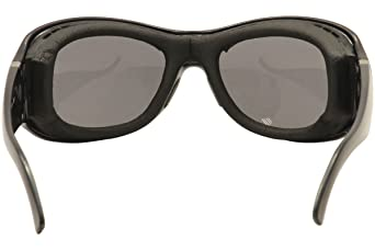 895038784e Amazon.com  7Eye Sunglasses - Briza   Frame  Glossy Black Lens  Sharpview  Gray  Clothing