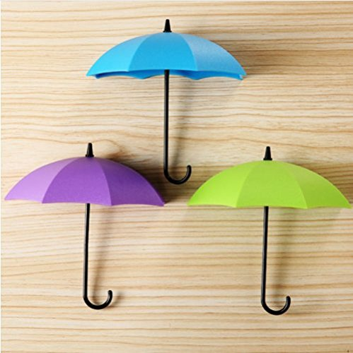 Umbrella wall hook- Holder Key Organizer For Keys, Jewelry And Other Small Items- set 3 colors ( PURPLE, GREEN, BLUE) - 1 Kg Tower