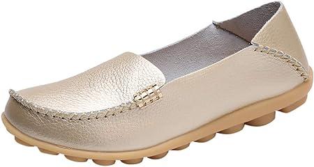 BHYDRY Zapatos Suaves de mamá Zapatos cómodos de Enfermera Zapatos Planos cómodos Naturales para Mujeres