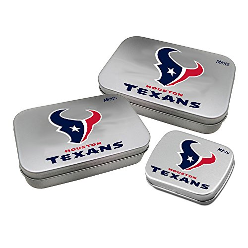 Worthy Promotional NFL Houston Texans Decorative Mint Tin 3-Pack with Sugar-Free Mini Peppermint Candies