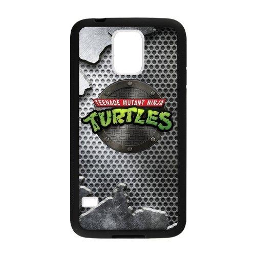Hoomin Cartoon Black Teenage Mutant Ninja Turtles Samsung Galaxy S5 Cell Phone Cases Cover Popular Gifts(Laster Technology)
