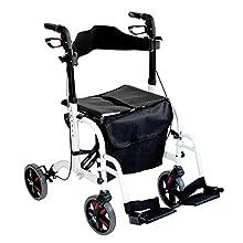 Aidapt – Duo Deluxe – Andador y silla de transporte en un – blanco (de IVA en el Reino Unido)