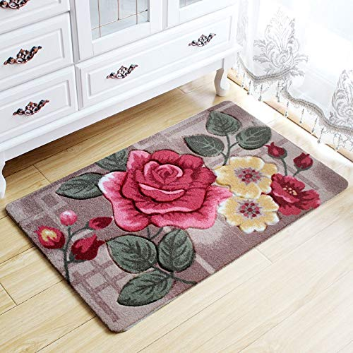 Big 3D Flower Carpet Kids Room,Kitchen Rugs Bathroom Carpet,Doormat,Tapete Para Quarto,Entrance Door Mats Outdoor,Cheap Bath Mat 40x60cm -