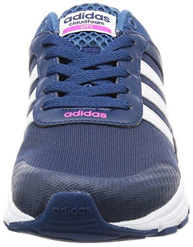 adidas CLOUDFOAM VS CITY W - Zapatillas de deporte para Mujer, Azul - (AZUMIS/FTWBLA/ROSIMP) 40