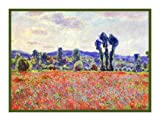 Field of Poppies by Claude Monet Counted Cross Stitch Pattern