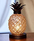 The Lakeside Collection Pineapple Glass Table Lamp