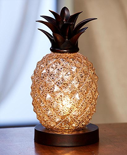 Pineapple Glass Table Lamp (Small Lamp Decorative)