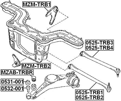 ZZDL28460-1 Year Warranty FEBEST # MZAB-TRBR