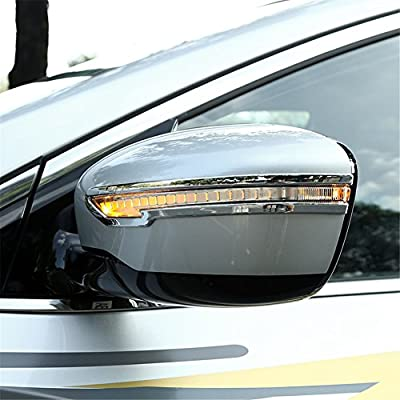 Kust FCT38418w Car Exterior Side Rear-view Mirror Anti-rub Trims Molding(Pack of 1 Pair ABS Plating Trims Fit for Installed Size)