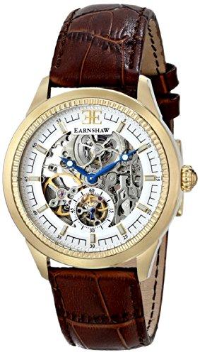 Thomas Earnshaw Men's ES-8039-03 Academy Analog Display Automatic Self Wind Brown Watch